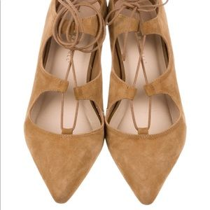Loeffler Randall Suede Lace Up Flats Shoes